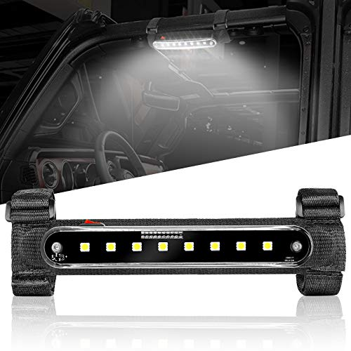 SUNPIE Roll Bar Mount LED Dome Lights Interior Lights Courtesy Lights for UTV ATV Truck All Jeep Model Off Road Vehicle w/Eight LED Chips, One Piece