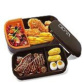 Oursun Bento Box Trabajo Microondas Fiambrera para Sandwich Lunch Box...