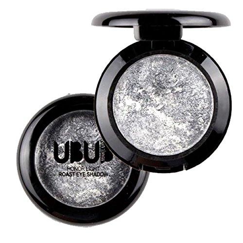 Momoxi Lidschatten,Augen Make-up Augenbrauenstift Einzelne gebackene Lidschatten-Pulver-Palette Shimmer Metallic Lidschatten-Palette 11