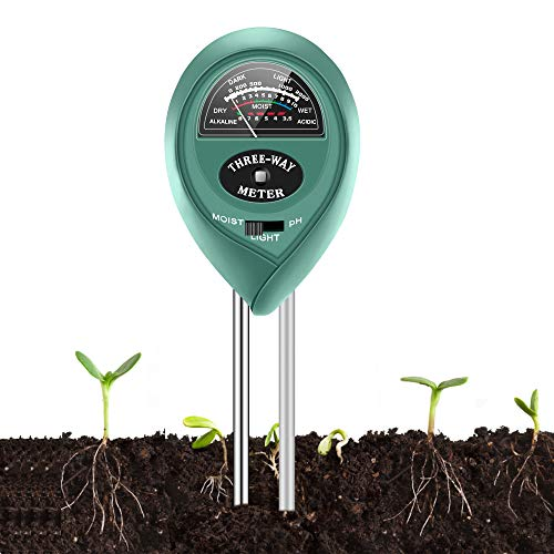 %9 OFF! Soil Moisture Sunlight Ph Test Meter,Soil Tester Meter, 3-in-1 Test Kit for Moisture, Light & pH, for Home and Garden, Lawn, Farm, Plants, Herbs & Gardening Tools, Indoor/Outdoors Plant Care