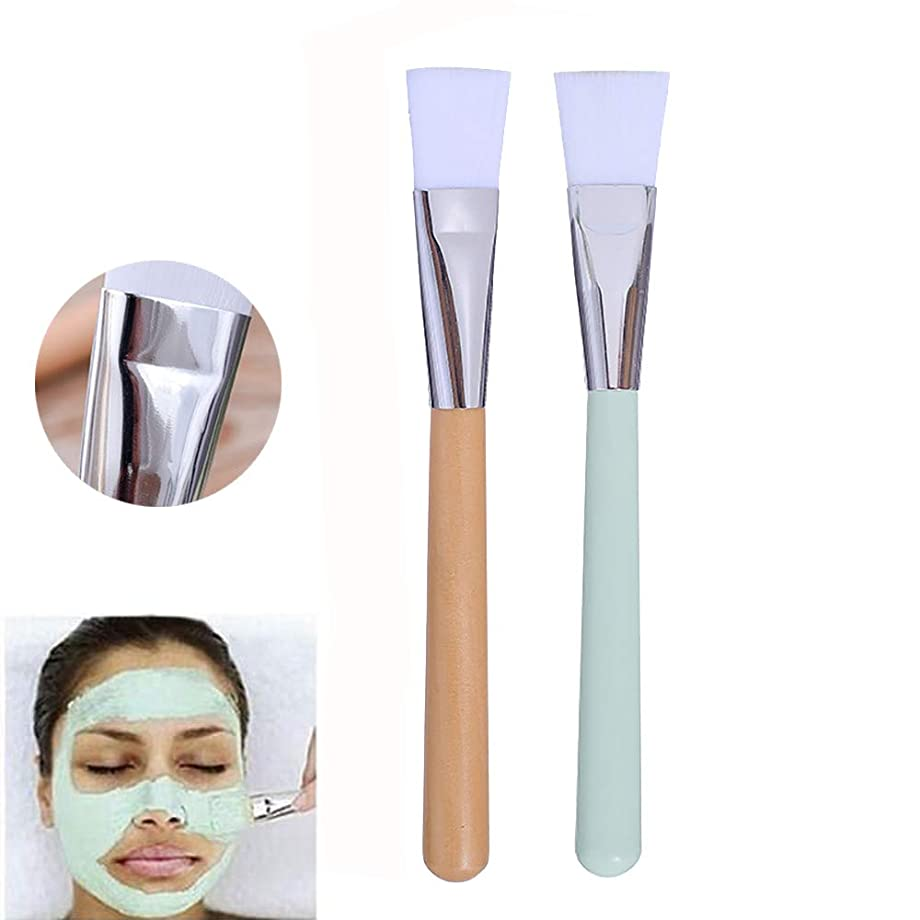 Cikoume マスクブラシ 2本セット 多機能化粧筆 美容ツール マスクツール DIY ソフト マスクブラシ 角質層落 フェイシャル メイクブラシ マスク用 フェイスケア マスク泥ブラシ