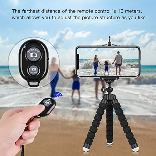 HAPY Hand Held Octopus Tripod, Selfie Stick,Portable Flexible Adjustable Cell Phone and Camera Stand Holder with Wireless Remote Shutter and Clip for iPhone, Android, Camera, GoPro,Action Camera