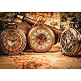 MTAMMD Puzzles Puzzle Antiguo De 1000 Piezas Relojes Bodegón para Adultos Relojes Antiguos con Cordón De Cartón De 500 Piezas-1500Pieces