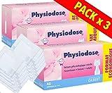 Physiodose Sérum physiologiques Lot de 3 boîtes de 40 unidoses + 10 Sachets de 2 Compresses...