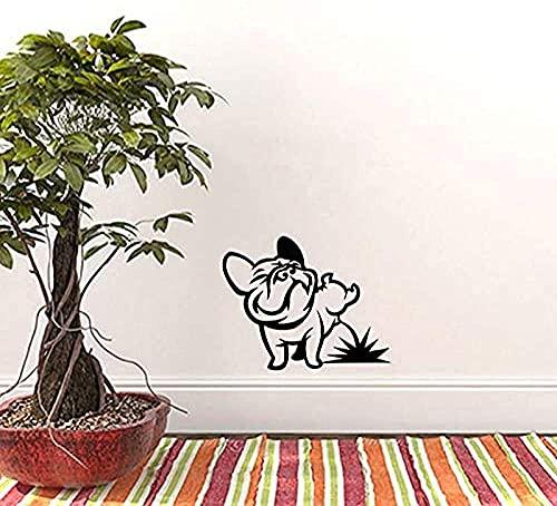Funny Dog Pee Bulldog Wall Sticker Vinyl Wall Art Decal Per Soggiorno Camera Dei Bambini Car Tablet Wallpaper 30X40Cm