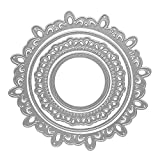 Metal Spring Cutting Dies Nesting Flower Lace Circular Embossing Stencil Die Cuts for Card Making Scrapbooking Paper Craft Album Stamps DIY Décor