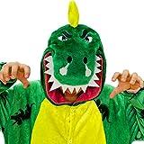 iSZEYU Pijama Mono de Dinosaurio Adulto para Mujeres Hombres Niño Disfraz Dino M