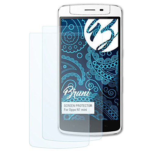 Bruni Schutzfolie kompatibel mit Oppo N1 Mini Folie, glasklare Bildschirmschutzfolie (2X)