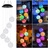 SmilingTown Solar Ball Wind Chime-Like Lights, Waterproof LED Color Changing Decorative Lights for Home Yard Patio Garden Porch Novelty Light, Auto ON/Off with Light Sensor