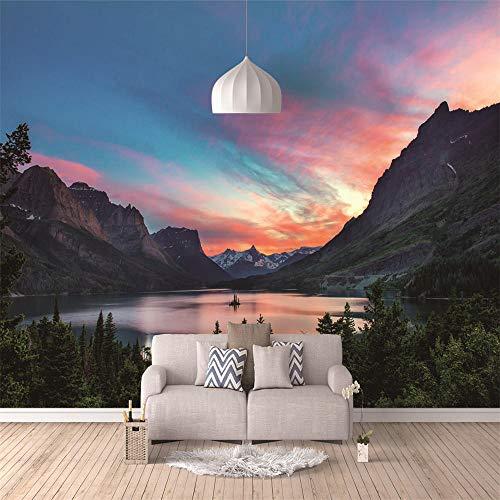 Custom Wallpaper Color Cloud Mountain 3D Waterproof Wall Paper TV Background Decor Living Room Bedroom Tv Sofa Background Wall Mural Wallpaper-150Cmx100Cm