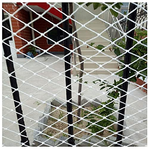 MFLASMF Red de Seguridad Red de protección para Vallas de balcón, Red anticaída para Mascotas para niños, Red de Cuerda Decorativa, para Piscina Balcón Escalera Barandilla Resistente a Rot