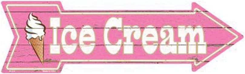 Smart Blonde Ice Long Beach Mall Cream Novelty Metal A-275 Arrow Sign Ranking TOP6