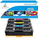 True Image Compatible Toner Cartridge Replacement for HP 202A CF500A M281 Color Laserjet Pro MFP M281fdw M281cdw M254nw M281fdn M280nw M254dw CF501A CF502A CF503A (Black Cyan Yellow Magenta, 4-Pack)