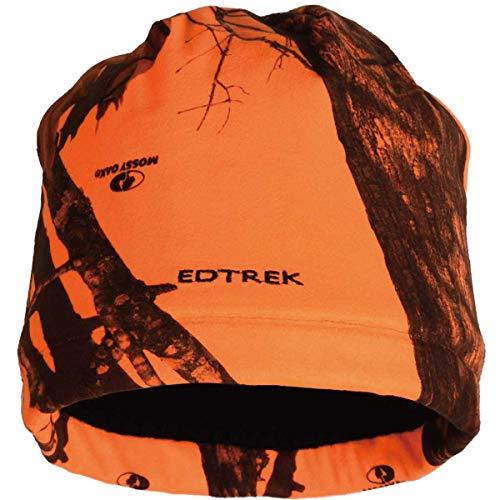 EDTREK Navigator Performance Camo Beanie - Timber and Blaze Orange camo Hunting hat (Blaze Orange camo, Large)