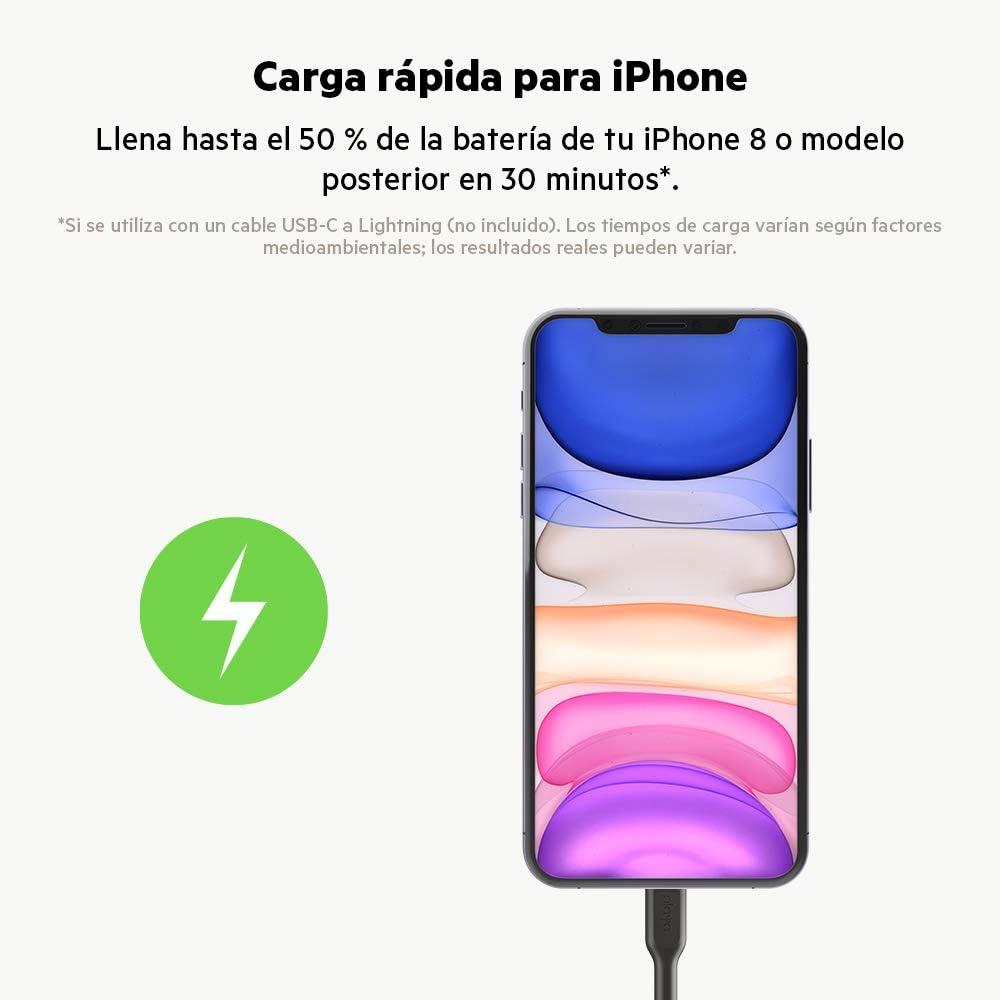 Belkin cargador para coche USB-C de 32 W Boost Charge cargador r/ápido para iPhone, Google Pixel y tel/éfonos de Samsung entre otros