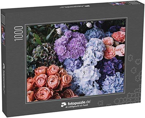Puzzle 1000 Teile Wunderschön blühende Blumen (Rosen - Klassische Puzzle, 1000 / 200 / 2000 Teile, edle Motiv-Schachtel, Fotopuzzle-Kollektion 'Flora'