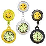jaomon orologi da tasca 3 pezzi per medici e infermieri orologi da tasca medici retrattili neri bianchi gialli per uomo e donna fondo luminoso