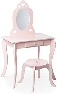 Milliard Kids Vanity Set with Mirror and Stool, Beauty Makeu