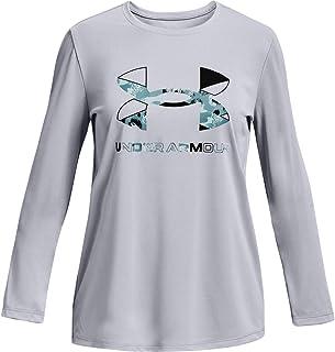 Under Armour Girls' Tech Graphic Print Fill Big Logo Long-Sleeve T-Shirt