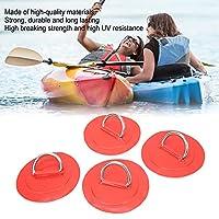 インフレータブルボートDリングパッド、強力な接着ステンレス鋼Dリング安全な物体のためのディンギー用のインフレータブルボートDリングパッチ(赤)