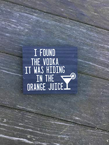 Ced454sy Ik vond de wodka het was verstopt in de sinaasappelsap Pallet teken