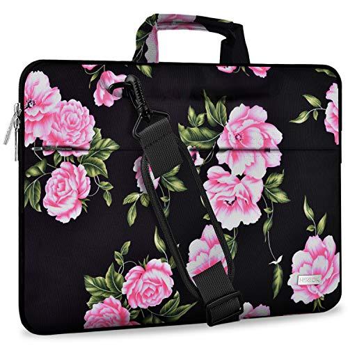 Hseok Laptop Shoulder Bag 15 15.6 16 Inch Brifecase, Compatible MacBook Pro 16 15.4 Inch, XPS 15 Spill-Resistant Handbag with Shoulder Strap for Most 14