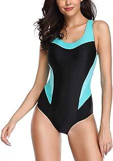 Women's One Piece Swimsuits/Sports Swimwear/U-Neck one-Piece Swimsuit