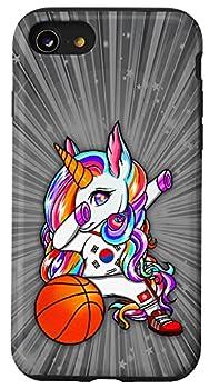 iPhone SE  2020  / 7 / 8 Dab Unicorn South Korea Basketball Fans Jersey Korean Flag Case