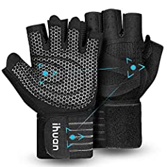 ✅ Full Palm Protection: No more torn hands and no more calluses. The Ihuan Workout Gloves protect your hands fully. The wrist support can protect your arms from spraining. And the foam pad on the palm will buffer the impact of sports apparatus. Made ...