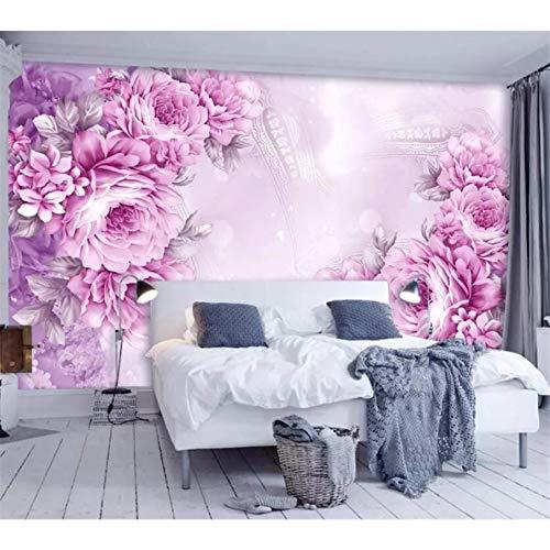 Benutzerdefinierte Tapete 3D Wandbild Retro handgemalte romantische Rose Hintergrund Tapete Home Decoration Tapete 3D Tapete 140x100cm