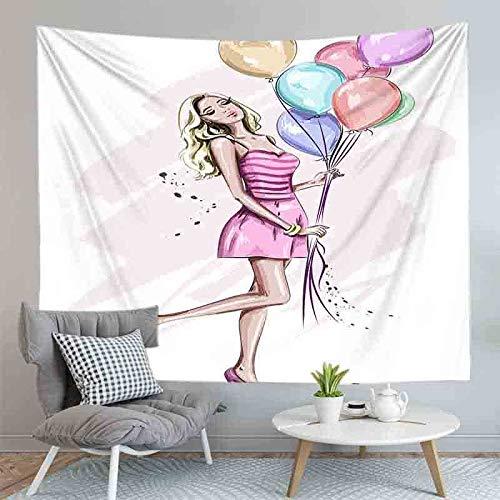 JXCDNB 75CMX85CM Impresión Digital 3D Pintura al óleo Sala de tapices Colgante de Pared Manta Artista decoración del hogar