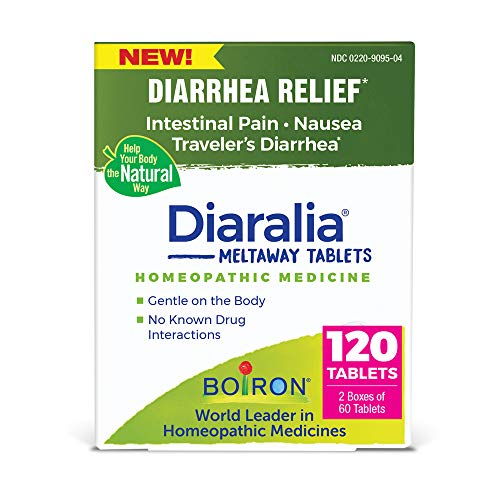 Boiron Diaralia Tablets Homeopathic Medicine for Diarrhea Relief, Intestinal Pain and Nausea, Non-Drowsy, 120 Tablets, 120 Count