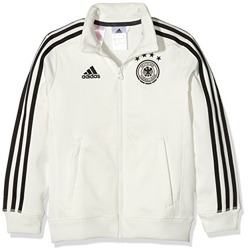 adidas Jungen Trainingsjacke DFB 3-Stripes, Off White/Black, 128