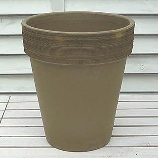 イタリア製 モカ スクラッチトールポット 26cm 植木鉢 風味豊かなテラコッタ デローマ社製 おしゃれ 陶器鉢 輸入鉢 素焼き鉢 プランター