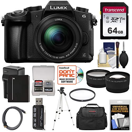 Best Deals! Panasonic Lumix DMC-G85 4K Wi-Fi Digital Camera & 12-60mm Lens with 64GB Card + Battery ...