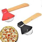 Gfdg Taglia Pizza,2 Pezzi Rotella Tagliapizza,Taglierina per Pizza in Acciaio Inossidabile,Affettatrice per Pizza da Cucina,Rullo per Pizza Tagliapizza,con Impugnatura Antiscivolo,per Pizza,Pane