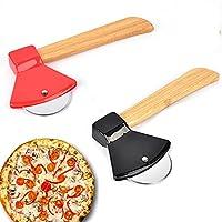 Hochwertige Materialien:Der Pizzaschneider besteht aus hochwertigem Edelstahl. Die Oberfläche ist geschmiedet, die Klingen sind scharf und lassen sich schnell und einfach in dünne Scheiben schneiden. So sparen Sie viel Zeit und Komfort. Rutschfester ...