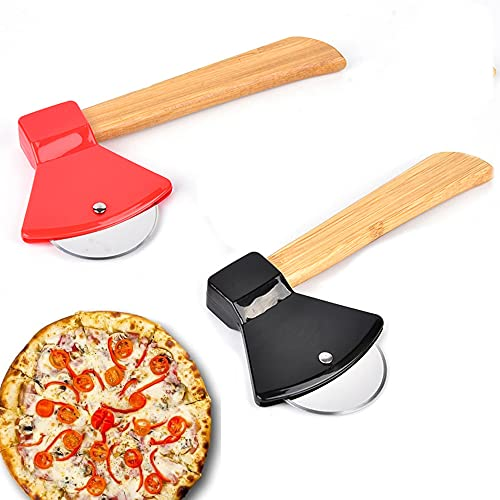 Gfdg Cortador de Pizza,2 Piezas Pizza de Antiadherente Corta