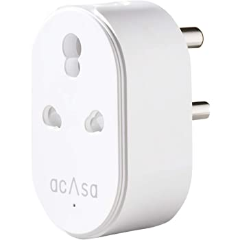 Acasa 16A Wi-Fi Pro Smart Plug | Alexa & Google Home Compatible | Surge Protector & Energy Monitor for High Power Appliances