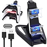 PS5 Controller Charger Station, TFSeven Docking Charging Station for Sony Playstation 5 / PS5 Controller Charger Stand Dual USB Fast Charging Station & LED Indicator for Sony PS5 Controller