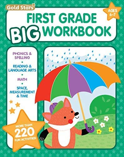 First Grade Big Workbook Ages 6 7 220 Activities Phonics Spelling Reading Language Arts Math product image