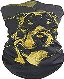 Neck Gaiter Tube Mask with Vintage Rottweiler Print, Neck Warmer Gaiter Balaclava Ski Mask Headwear Outdoor Scarf Neckerchief