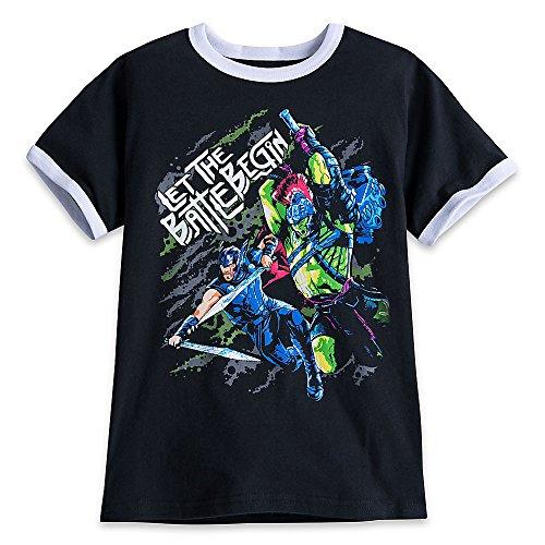 Marvel Thor and Hulk T-Shirt for Kids - Thor: Ragnarok Size XS (4) Black