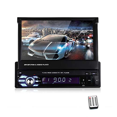Vivavoce Bluetooth da 7 Pollici 1080P per autoradio Lettore Radio Stereo LCD da 7 Pollici Supporto Schermo a Specchio