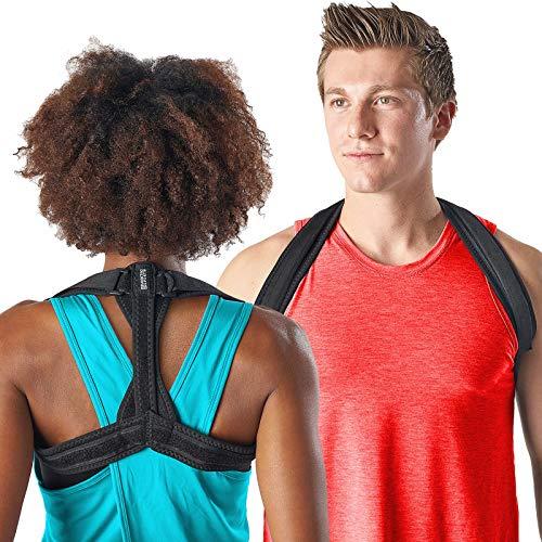 Modetro Sports Rücken-Geradehalter für Damen u. Herren – Schultergurt zur Haltungskorrektur für einen geraden Rücken – Lindert Schmerzen – inkl. eBook