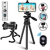 Phone Tripod, Avaspot Portable and Adjustable Flexible Tripods <span class='highlight'>Camera</span> Stand Holder with Wireless Remote and Universal Phone Mount for iPhone Android Phone <span class='highlight'>Sport</span>s <span class='highlight'>Camera</span>