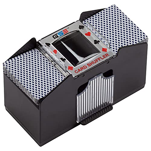 Casino Automatic Card Shuffler Battery Operated for Blackjack and Poker Playing Card Games (1-4 Deck Card Shuffler)