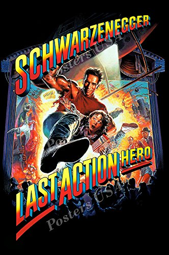 PremiumPrints - Arnold Schwarzenegger Last Action Hero Movie Poster Glossy Finish Made in USA - FIL121 (24' x 36' (61cm x 91.5cm))