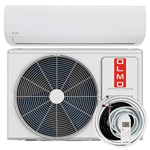 OLMO Alpic 9,000 BTU, 110/120V Ductless Mini Split AC/Heating System With Heat Pump Including 16ft Installation Kit