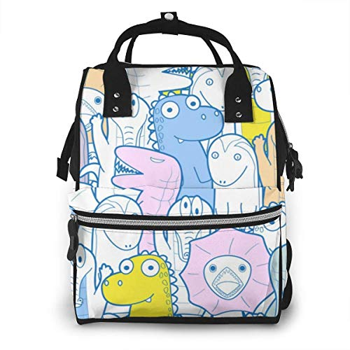 nbvncvbnbv Lizard Cartoon Character Diaper Bag Backpack Nappy Bag Aby Bags for Mom Maternity Multi-Function Travel Back Pack for Dad and Mom